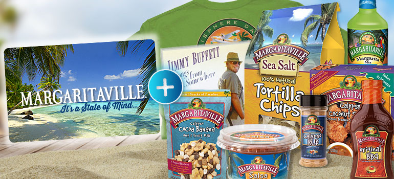 Margaritaville Gift Card & Margaritaville Foods Party Pack